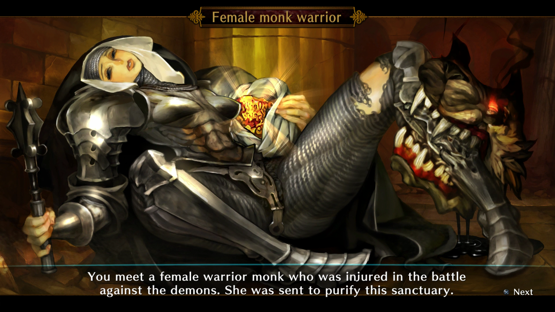 Female warrior defeated adult download
