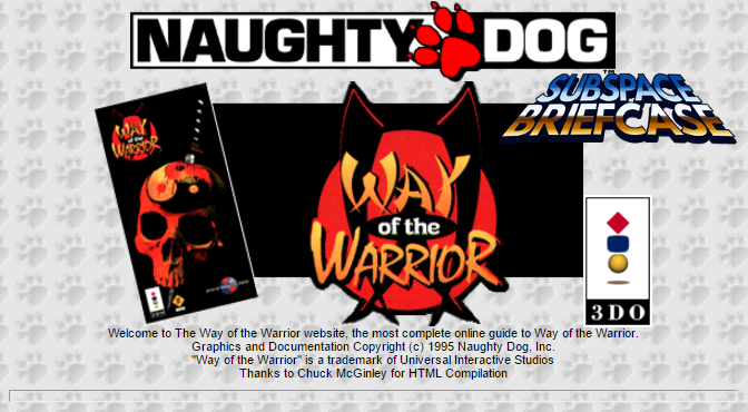 Way of the Warrior/Naughty Dog 101